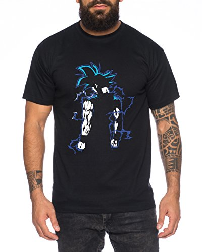 Super Son Goku Back Camiseta de Hombre Goku Dragon Master Son Ball Veg