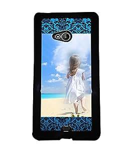 Printvisa 2D Printed Girly Designer back case cover for Nokia XL 540- D4156