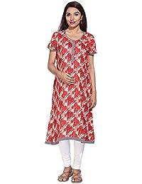 9c0fe55737c77 Morph Maternity Red Kurta for Feeding/Nursing & Maternity Kurti/Designed  for A During