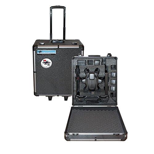 Preisvergleich Produktbild DS24 Koffer für Typhoon H und H520 mit Trolley Griff Rollen und passendem INLAY - Black Edition - Ersatz