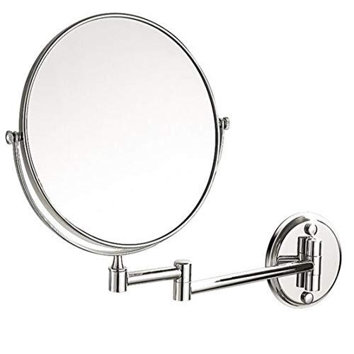 MFASD Espejo De Maquillaje Montado En La Pared Extensible 3X Aumento, Espejo Tocador Giratoria De 360...