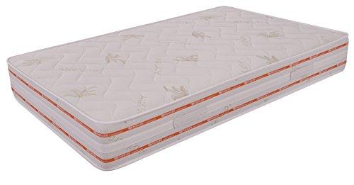 Materasso Memory 4 strati Piazza e mezza Top Air Relaxa misura 120x190 Alto 25 cm Rivestimento Aloe Vera