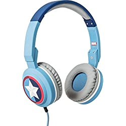 Tribe Marvel - Auriculares on-ear con micrófono I Auriculares Cascos para Iphone, Android, Movil, PS4, XBOX, PC, Computador - diseño Captain America