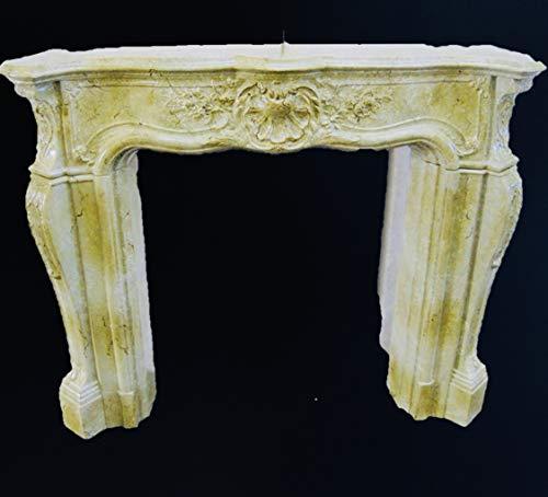 Deko-König Medusa Kamineumrandung Kamin Umrandung im Barockstil mit Deko-Säulen Kamin Umbau Barock 3-D (1840 k 124)