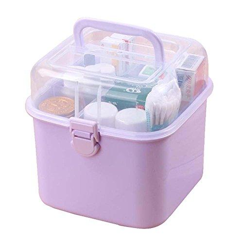 Black Temptation Mini Portable Medizin Box Kosmetik Box Aufbewahrungsbox, Lila - Ds Medikament