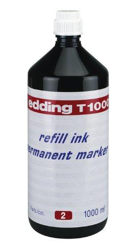 edding T1000 Permanentmarker Nachfülltinte - Inhalt: 1000ml - Farbe: rot - Tusche für edding...