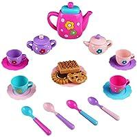 Servizio Piatti Giocattolo Accessori Cucina Giocattoli Tè Pomeridiano Gioco di Ruolo Bambini