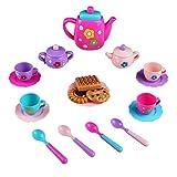 Juego de Té Cocinas de Juguete para Niñas Juego de Rol Niños, 19 Piezas