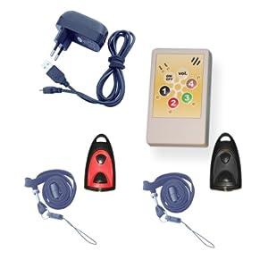 Notrufsystem für Physiotherapiepraxen, Arztpraxen und andere Praxen mit 2 Funksendern, Notrufanlage für Physiotherapie, Patientenruf, Helpline 2.0