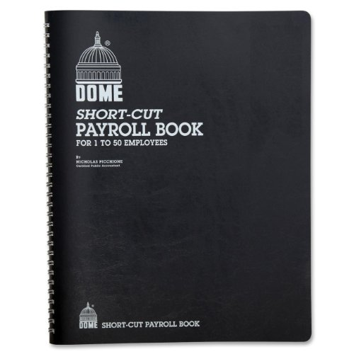 Payroll Record, Single Entry System, Blue Vinyl Cover, 8 3/4 x11 1/4 (Form Dome)