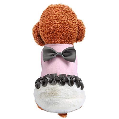 Notdark Pet Kleidung Klein Hund Kleidung Sport Kleid T-Shirts Tee Kleider Tanks Top für Kleine Größe Weiblich Hunde Winter Pet Kostüme(L,Rosa)