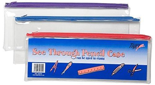 tiger-pencil-case-clear-see-through-long-33x13cm-x-1-single