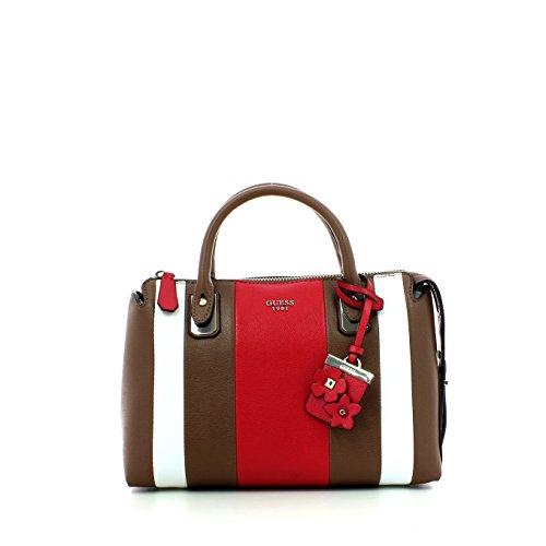 Guess handbag liya satchel mocha multi Brun