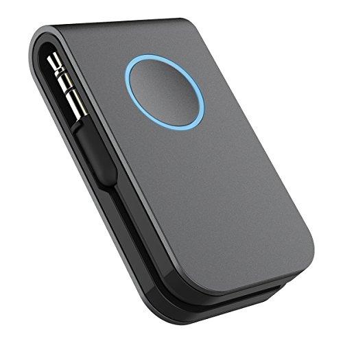 Bluetooth Sender Transmitter Doosl Drahtlose Beweglicher Stereo Musik Audio Bluetooth Empfänger aux Adapter mit 3,5-mm-Audio-Anschluss für TV, iPod, CD-Player, PC, MP3, MP4, etc. (Wettbewerb Lautsprecher)