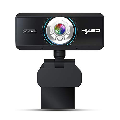 Fulltime E-Gadget HD-Webcam mit Mikrofon 720P HD-Computer Videoanrufkamera Funktioniert mit Xbox One/PC/MacBook/TV Box Unterstützung OBS/Facebook/YouTube (Schwarz)