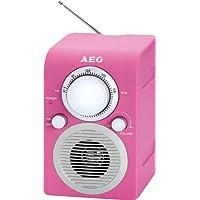 AEG Portable FM Radio - Pink - ukpricecomparsion.eu