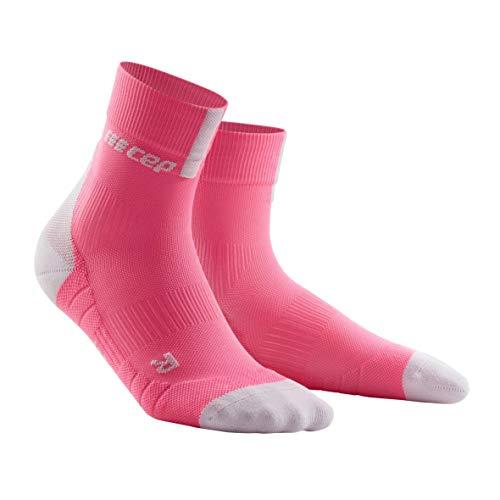 CEP - Short Socks 3.0 für Damen | Sportsocken für mehr Power und Ausdauer in pink/grau in Größe III -