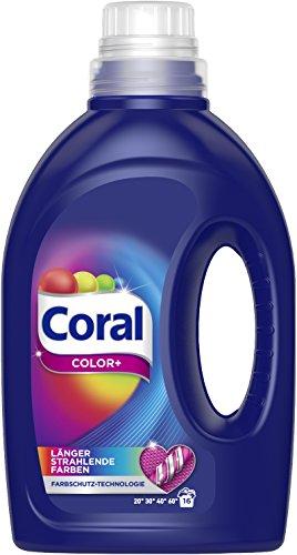 Coral flüssig Color+ Vollwaschmittel 16 WL, 1er Pack (1 x 16WL)