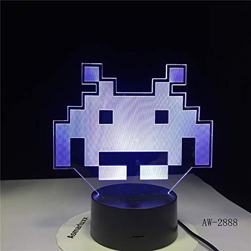 Schwein Nette 3D LED Lampe Tischlampe LED USB Sensor Nachtlicht Skulptur Mode dekorative Lampe als Schlafzimmer Schlaf Dekoration 10 No Controller -