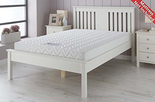 Airsprung Devon Wooden Bed Frame - White - Double 4ft6