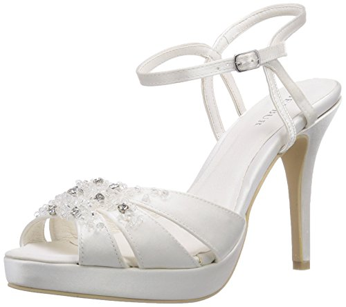 Menbur Wedding Mia, Sandali con cinturino alla caviglia donna, Avorio (Elfenbein (Ivory 04)), 38