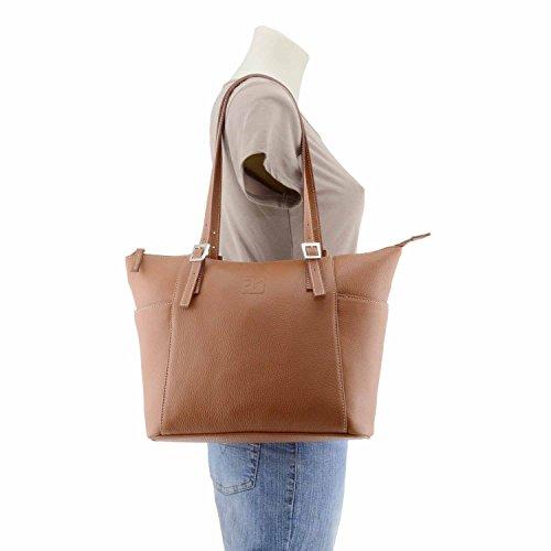 Stile borsa di pelle cestino CASTAGNA