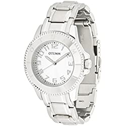 OTUMM, Silver Analog Quartz Stainless Steel Women's watch Ibiza 38 mm 00177