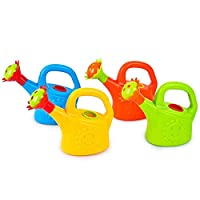 Watering Can Toy, Cartoon Plastic Environmentally Watering Pot Shower Toys | Sprinkler Kids Beach Bath Toy | With Rotating Flower Spout