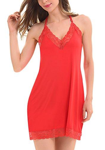ADORNEVE Nuisette Babydoll Pyjama Sexy Modal Lingerie Femme