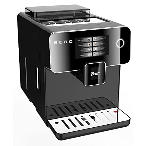 41qfNg nBcL. SS500  - BERG Toccare Uno Pro Series One Touch Automatic Bean to Cup Coffee Machine (Black)