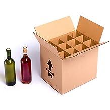 (15x) Caja para botellas de vino CON separadores de cartón rejilla | TELECAJAS (