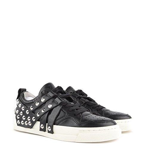 Ash Chaussures Extra Baskets Noir en Cuir Femme Noir
