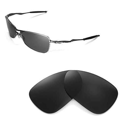 Walleva Ersatzgläser für Oakley Crosshair 1.0 (2005-2006 Version) Sonnenbrille - Mehrfache Optionen (Schwarz - polarisiert)
