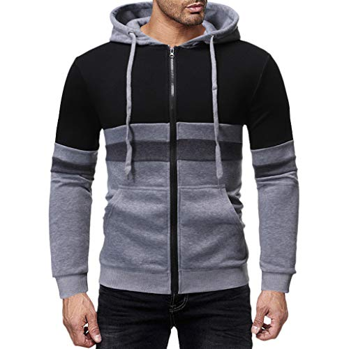 Mens Slim Fit Long Sleeve Lightweight Hoodie with Kanga Pocket ◆Elecenty◆ Sports Outwear Sweatshirts Hooded Pullover Sportbekleidung Drawstring Tops -