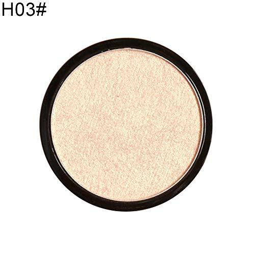 Illuminante viso in polvere clifcragrocl, monocolore viso evidenziatore polvere fai da te palette di ricarica donne trucco cosmetico - h03#