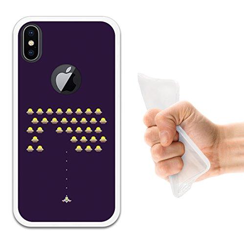 iPhone X Hülle, WoowCase Handyhülle Silikon für [ iPhone X ] Militärischer Stern Handytasche Handy Cover Case Schutzhülle Flexible TPU - Schwarz Housse Gel iPhone X Transparent D0402