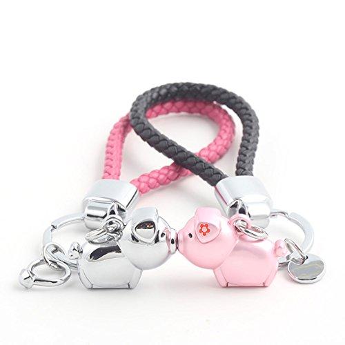 PLL Nettes süßes Schwein-Paar Keychain, das Schwein-Auto Keychain Auto-Schlüssel-Anhänger küsst -