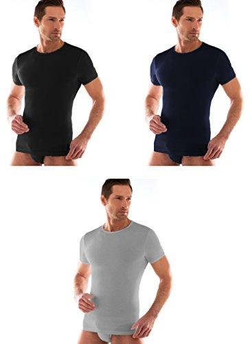 3 t shirt corpo uomo cotone elasticizzato LIABEL mezza manica girocollo 03858/P23