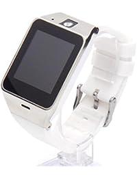 New Cool Bluetooth reloj inteligente con cámara/NFC/GSM tarjeta SIM para iOS Android, Color Plateado y blanco