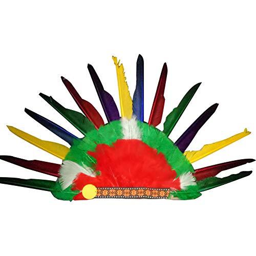 1 STÜCKE Feder Kopfschmuck Indianer Feder Maske Maskerade Halloween Dekoration 53 x 35 cm