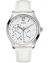 GUESS Herren-Armbanduhr XL VESSEL Analog Quarz Leder W85053G2