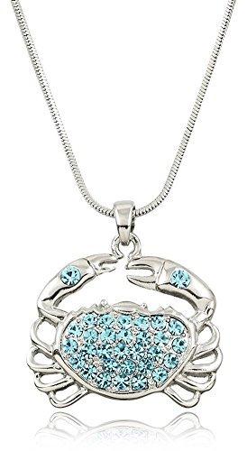 Glamour Girl Gifts Collection Halskette mit Anhänger Tropischer Ozean, Strandmotiv, Hellblau