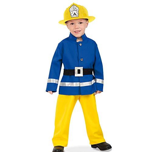 Kleine Feuerwehrmann Kostüm - KarnevalsTeufel Kostüm-Set Feuerwehrmann - Feuerwehr Kleiner Held, Kinderkostüm und Helm (104)