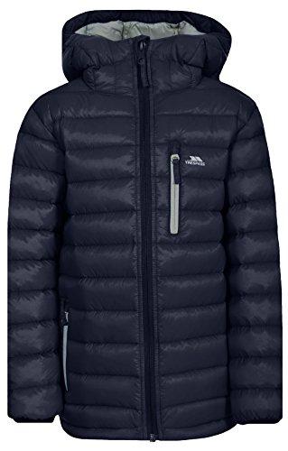 Trespass Morley Kompakt Zusammenfaltbare Leichte Warme Wasserdichte Regenjacke / Funktionsjacke / Wetterjacke mit Kapuze für Kinder / Unisex / Mädchen und Jungen