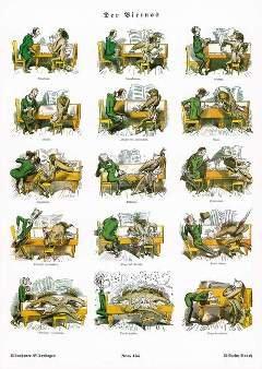 DER VIRTUOS - MUENCHNER BILDERBOGEN NR 465 DIN A3 - arrangiert für Poster [Noten / Sheetmusic] Komponist: BUSCH WILHELM