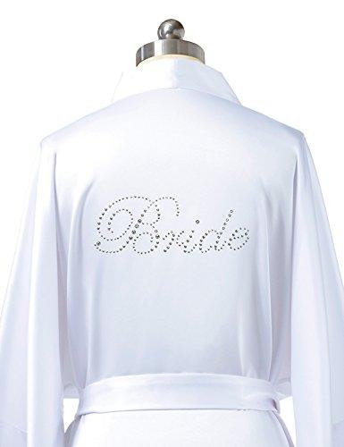 SIORO-Kimono-Robe-Satin-Personalized-BridesmaidFlower-GirlBride-Wedding-Party-Gowns-XS-XXL