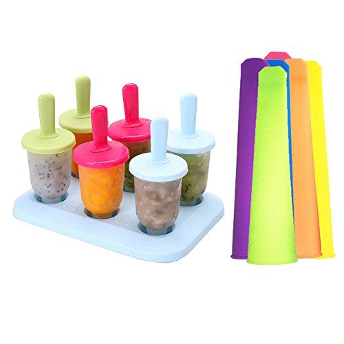 r DIY PP Popsicle Modus Set + 6pcs bunt ohne BPA ohne Silikon Handheld Popsicle Backform (Diy Silikon-halloween-maske)