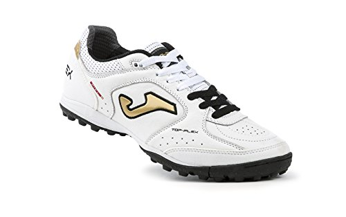 Chaussures de Futsal JOMA TOP 602 FLEX Noir-Or-Blanc-TURF 2017 Bianco