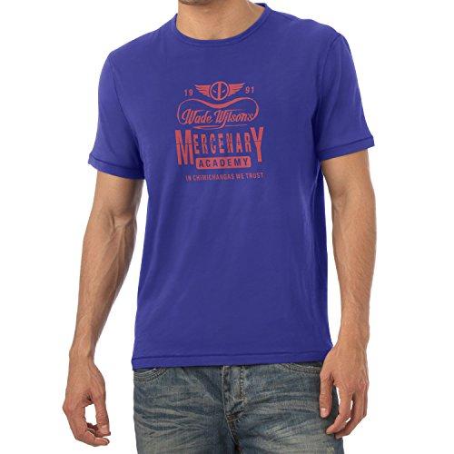 TEXLAB - Wade Wilson's Mercenary Academy - Herren T-Shirt, Größe XL, (Kostüm X Force Deadpool)
