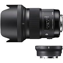 Sigma ZI954 - Objetivo de 50 mm F1.4 DG HSM A + conversor MC-11 para Canon, color negro